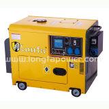 generador diesel silencioso de 6kw/6kVA con el ATS y el indicador digital
