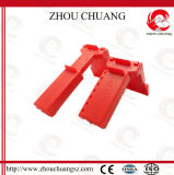 Safety en plastique Adjustable Ball Valve Lockout dans Fashionable Red Color avec Cheap Price