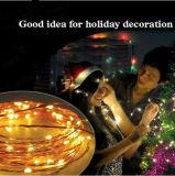 Licht van het Koord van het Koper van LEIDENE Kerstmis van de Tak het Decoratieve
