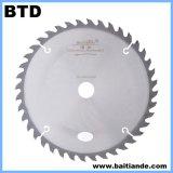 Circulaire d'extrémité de carbure de tungstène de dents du matériau 65mn Atb la petite scie la lame