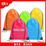 (KL047) Les sacs de cordon imperméables à l'eau en gros promotionnels ont personnalisé le sac de Drawstering