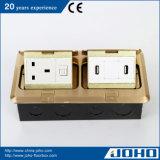 IP44 impermeabilizzano d'ottone si raddoppiano schioccano in su i dati all'ingrosso del USB della presa dello zoccolo 13A della casella e dello scrittorio del pavimento