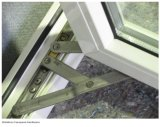 Windows de cristal de aluminio de cristal doble superficial grueso gris