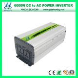 inversores autos de la energía solar 6000W con CE&RoHS aprobado (QW-M6000)