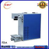 портативная машина отметки лазера волокна 20With30With50W для стекел/Acrylic/Pes/PVC/Titanium