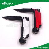 Cuchillo al aire libre de la supervivencia del acero inoxidable con el cortador de la correa