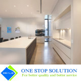 Alta mobilia degli armadi da cucina di rivestimento della lacca di lucentezza di colore bianco moderno (ZY 1068)