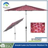3m昇進のカスタマイズされたロゴによって印刷されるポリエステルテラスの市場の傘(SY8382)