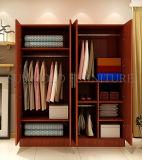 Projeto de madeira do gabinete do Wardrobe da porta moderna do armário 4 do quarto (SZ-WDT001)
