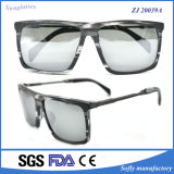 Your Own Logo를 가진 상표 Acetate Half Rim와 Metal Combination Polarized Sunglasses