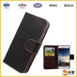 Nueva cubierta de la caja del cuero de la prevención del polvo del negro de la llegada para el iPhone