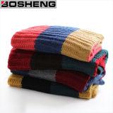 Gestrickter warmer großer Form-Schal der Frauen Acryl