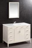 Шкаф ванной комнаты классицистического зеркала самомоднейшей конструкции твердый деревянный (LZ-134)