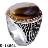 Nieuw Ontwerp 925 Echte Zilveren Ring Twee van de fabriek van Mensen het Plateren van Kleuren