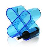 Étalage acrylique flexible de vin, supports d'étalage de bouteille de lucite