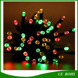 100LED Tube Shape Colorful Solar String Light für Garten Decorate