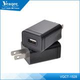 Preto AC / DC celular portátil Viagens Telefone USB carregador de parede Adaptor