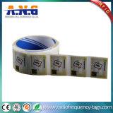 A etiqueta da embalagem 13.56MHz NFC do rolo etiqueta Ntag213 para a gestão de ativos