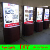 Custom Portable Modular Floor POS Exhibition Display with Lightbox
