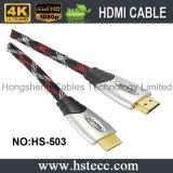 Velocidad 20 contadores del metal de cable 19pin del enchufe HDMI 2.0V 1.4V