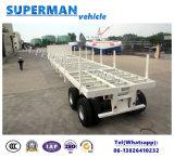 Aanhangwagen van de Vrachtwagen van de Lading van twee As Flatbed Semi met Staak