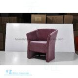 Cadeira moderna do lazer do couro da sala de visitas do estilo (HW-6730C)