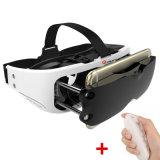 Auriculares da caixa de Vr do capacete dos vidros da realidade virtual 3D para Smartphone ~ de 3.5 polegadas 6 polegadas + Gamepad mais remoto