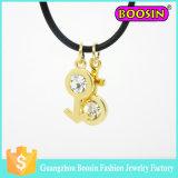 2016 Halsband van de Juwelen van de Douane van het Kristal van de Halfedelsteen van Mens van de Manier de Dwars Zilveren