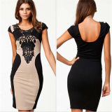 Preiswertes koreanisches Art-Büro-Kleid-Kurzschluss-Kittel-Großhandelskleid (50211)