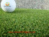 Deportes verde del césped artificial para el campo de golf