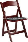 黒いアメリカの樹脂の折りたたみ椅子
