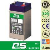 batterie 4V5.5AH rechargeable, pour la lumière Emergency, éclairage extérieur, lampe solaire de jardin, lanterne solaire, lumières campantes solaires, torche solaire, ventilateur solaire, ampoule