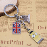 Regalo su ordinazione Keychain del ricordo del metallo di marchio di promozione britannica di stile