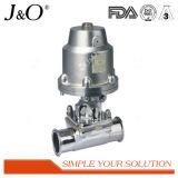Válvula de diafragma sanitária do aço inoxidável com atuador dos Ss