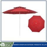 Double couche Aluminium Market Umbrella Sy2703 de patio de jardin de 2.7m