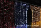 A cortina do diodo emissor de luz ilumina luzes ao ar livre do Natal para a decoração da HOME do feriado