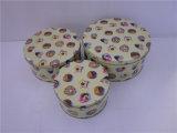 2 Größen-Plätzchen-Zinn-Kasten mit Drucken-Abnehmer-Gestaltungsarbeit