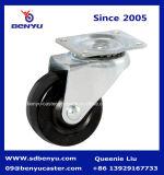 軽量固定タイプ黒のゴム製足車の車輪