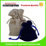 Respetuoso del medio ambiente Promoción del lazo de terciopelo bolsa de regalo para la joyería