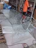 Vector de acrílico negro blanco claro de los muebles, mesa de centro de acrílico hecha por la fabricación directo