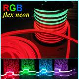 Trabajo impermeable de la luz de neón de la flexión del RGB con el regulador de DMX