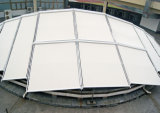 ガラス家および別荘(CV001)のための軽量屋根の日除け