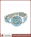 La plus nouvelle et imperméable à l'eau montre-bracelet de dames d'alliage pour promotionnel