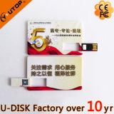 USB revolvendo do cartão conhecido do logotipo 1/2/4/8/16/32/64/128GB feito sob encomenda (YT-3107L)