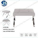 Tela de lino o taburete de cuero con diseño moderno de acero redondas de acero de 50 pies * 50 * 40cm