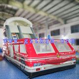 Das Bus-aufblasbare Plättchen-Bett/aufblasbare lange aufblasbare erwachsene im Freiendas plättchen des Wasser-Slide/PVC