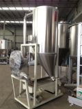 Fundindo o grânulo plástico ao tanque de armazenamento com peneira da vibração