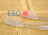 Venda quente! Toothbrush transparente descartável da cortesia do hotel