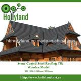 Telha de telhado colorida alta qualidade do metal com a pedra revestida (telha de madeira)