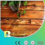 12.3mm Woodgrain 짜임새 단풍나무는 예리하게 된 박판으로 만들어진 마루를 밀초를 발랐다